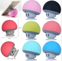 Altavoz Bluetooth manos libres portátil inalámbrico de hongos altavoz con disco que aspira el soporte para el iphone Samsung almohadilla MP3 Tablet PC con menor
