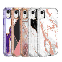 For iphone 11pro max xr xs max Case Luxury Marble 3 in 1 Hea...