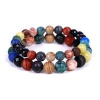 Regalo Bracciali Natural Fashion agata-stoneBracelet gioielli Galaxy Sezione Starry Sky Pietra String mano