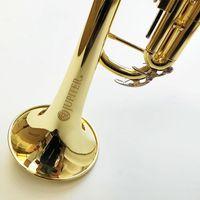 Vaka Ağızlık trompeta Ücretsiz Kargo ile Jüpiter JTR-500Q Yüksek Kalite Bb trompet Pirinç Boru Altın Vernik Müzik Aleti