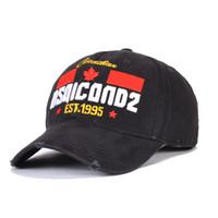 클래식 DSQICOND2 야구 모자 남성 모자 스냅 백 캡 편지 자수 높은 품질 남여 CASQUETTE 골프 모자