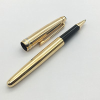 top MB pen gold Wave pattern design Golden metal pen writing...