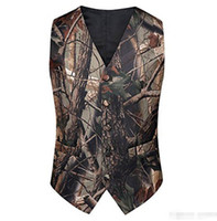 2020 White Camo Groom Vests Groom' s Wedding Vest Formal...