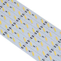 Жесткие светодиодные ленты 7020 SMD Охлаждают теплые белый Заполнители бар 1M 72 светодиодов LED Light Non-водоустойчивый DC 12V Яркие светодиодные ленты