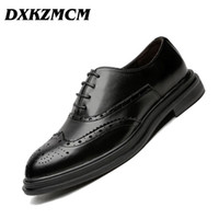 DXKZMCM Scarpe uomo in pelle fatti a mano Scarpe da uomo Brogue Scarpe Classic Mocassini Calzature Business Party Office Wedding