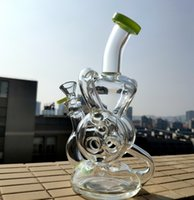 2019 New 9 Inches Height Double Recycler Glass Bong Torus Da...