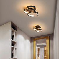 창조적 인 주도 발코니 램프 북유럽 휴대품 보관소 입구 램프 복도 램프 조명 통로 천장 빛 현대 미니멀 집 현관