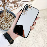 For iphone xs max xr phone case Ins style plated mirror soft...