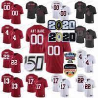 NCAA Alabama Crimson Tide College Footbal Jerseys Kids 청소년 Tua Tagovailoa Jersey Jerry Jery Jaylen Waddle Najee Harris Red Custom 2020