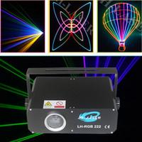 DMX512 PC programmierbar 500mW RGB Animation Analoge Modulation Laserbeleuchtung Show Bühnen Disco DJ Projektor