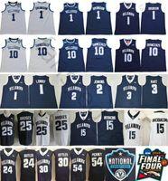 NCAA Villanova Wildcats 1 Jalen Brunson 10 Donte Divincenzo 25 Mikal الجسور Kyle Lowry Kris Jenkins ArcidiaCono 3 جوش هارت مخيط جيرسي