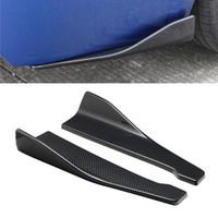 2 шт. 48 см из углеродного волокна, автомобильный спойлер, задний угол, сплиттер, диффузор, предотвращающий столкновение, модифицированный кузов, боковая юбка, сплиттер