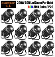 gigertop 12 единиц 200W RGB 3в1 COB Led Par Увеличить световой эффект DJ DMX DJ-шоу
