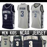 NCAA Allen Iverson Jersey Gedrgetown College Basketball Jersey Wade Dwyane Michael North Carolina Men Enfants Jerseys