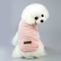 Pet Clothing Casual Stripe Dog Cat Vest Summer t- shirt for P...