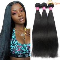 Visone brasiliano capelli dritti capelli umani 3 bundles capelli vergini brasiliani dritti 100% non trasformati brasiliani capelli lisci per capelli tessere