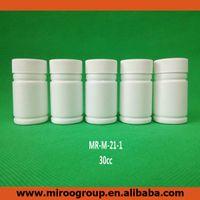 100 + 2PCS 30ML 30CC 30G HDPE الأبيض إفراغ زجاجات حبوب منع الحمل الدوائية كبسولة حاوية بلاستيكية مع برغي المطاحن قبعات الألومنيوم