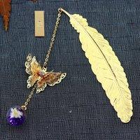 Bookmark pena metal de cobre caixa de graduação prateado presente retorno único encanto do favor do casamento pingente de sorte