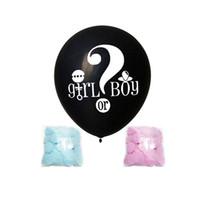 36 Inç Siyah Cinsiyet Ortaya Balon Erkek veya Kız Parti Lateks Balon Bebek Süslemeleri Balon Konfeti Malzemeleri ZC0591