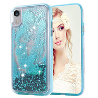 iphone cases 2 in 1 Liquid Quicksand Case Glitter coque ipho...
