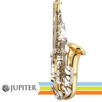 JUPITER JAS-710GNA Öğrenci Alto Saksafon Eb Ayarlama E Düz Pirinç Gümüş tuşları Müzik aleti Profesyonel With Aksesuarları