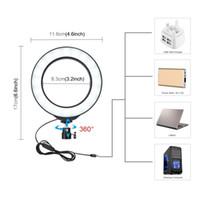PULUZ 4,6 / 6,2 дюйм LED Ring Light USB 3 Режимов Диммируемого Фото фотоателье Video Light Cold Shoe штатив с шаровой головкой