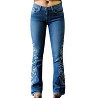 JAYCOSIN Jeans Femme Jeans bouton broderie de maman Pantalons Pantalons eph Vaqueros Mujer Jeansy Damskie Pantalon 507