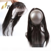 Natural Hairline with Baby Hair 360 Lace Band Frontals 22*4 ...