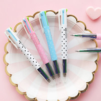 2 pcs lot Wave Point 4 Colors Chunky Ballpoint Pen School Of...