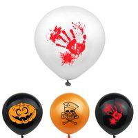 Кровь Splatter латексных шаров Хэллоуин украшение Bloody Отпечатки 12 дюймов тыквы призрак череп украшение партия VT0549