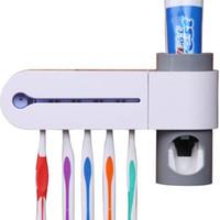صديقة للبيئة 3 في 1 العليا علوم وتكنولوجيا طب الأسنان الأشعة فوق البنفسجية الأشعة فوق البنفسجية فرشاة الأسنان المطهر معقم منظف حامل التخزين