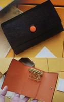 M62630 6 키 홀더 키 파우치 지갑 다미에 캔버스 카드 동전 지갑 열쇠 고리 여성 남성 클래식 여섯 열쇠 고리 패션 모노그램 키 체인 62630