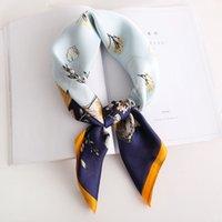 Design de impressão Mulheres Xailes Wraps quadrado pequeno écharpe Lady Banda Floral Cabelo Foulard Pashmina Scarf Bandana