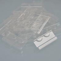 DIY Atacado 100 / Pack Plástico Clear Bandejas Cílios 25mm Mink Lash Titular Bandeja de Cílios Para Caixa De Embalagem Caixa Quadrado Vendedores