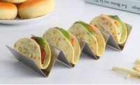 أنيقة الفولاذ المقاوم للصدأ تاكو حامل حامل تاكو شاحنة صينية نمط المكسيكي الغذاء الرف فرن آمن للخبز غسالة الصحون