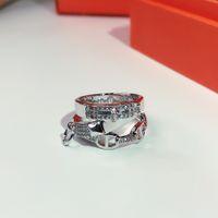 Vendita calda Lussuoso classico per le donne Lettera rotonda Semplice anello gioielli Set Francia Qualità Golden Superior Quality H Multi-Planppy Anelli