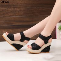 Women Sandals Summer New Fashion Wedge Sandals New Open Toe ...