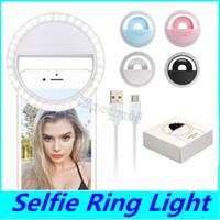 LED Ring Selfie Light USB Wiederaufladbare Ringe Selfies Fill Light Zusatzbeleuchtung Kamera Fotografie für Smart Handys DHL 100PCS