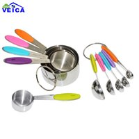 10pcs Colorful Stainless Steel Measuring Cups And Measuring ...