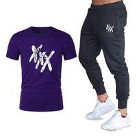 Erkek Setleri T Shirt + Pantolon Erkekler Marka Giyim XXxtentacion Eşofman Moda Rahat Tişörtleri Spor Salonları Egzersiz Spor Setleri Boyutu M-2XL