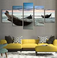 5pcs enorme abstracta moderna del hogar de la pared del arte en la pintura al óleo sobre lienzo No Frame