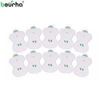 Beurha 10PCS سادات القطب الكهربائي عن عشرات رقمي العلاج آلة الكترونية عنق الرحم فقرة العلاج الطبيعي مدلك الوسادة المتوسطة