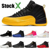 Baratos 12 12s FIBA ​​CNY Bred Womens Basketball Mens Shoes XII Flu Jogo Real Bumblebee reverso Taxi Royal Blue Gym Sneakers