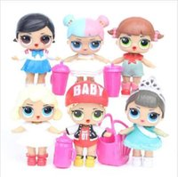 8CM Doll with feeding bottle American PVC Kawaii Children To...