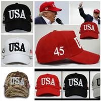 Mode-Trumpfhut USA-Flaggen-Baseballmützen halten Amerika große Stickerei-Stern-Buchstabe-Camouflage des Hut-2020 justierbare Hysterese 8 Farben DHL