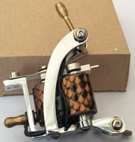 M022 New Silber Farbe Handmade Wrap Coil Eisen Tattoo Maschinengewehr