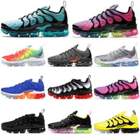 2020 New Mens Shoe TN Além disso vapores Running Shoes respirável Air Cusion Desinger Sneakers Be True Grape Triplo Preto MNE Formadores Sports Shoes