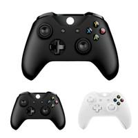 5 PCs yeni Xbox one için Bluetooth kablosuz denetleyicisi için Xbox one Ince konsolu için Windows PC Siyah / Beyaz Joystick