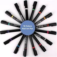 1pcs 3D-Nagellack-Feder-Aquarell-Pinsel-Markierungs-Feder-Nagel-Kunst-Werkzeug Marker-Skizze Zeichnung Male Schönheit Zu