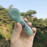 Mini tubos de fumar Cuchara estilo Pepinillo Pepino Picepumber Pyrex Glass Fugey para Tabaco Oil Dab